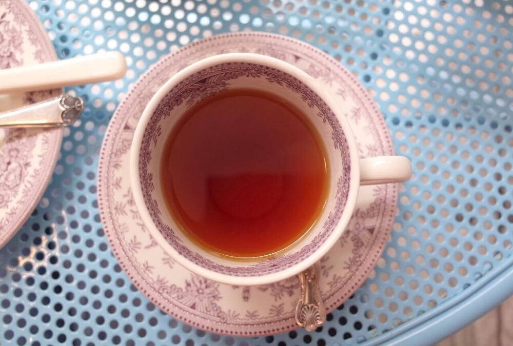 上から紅茶
